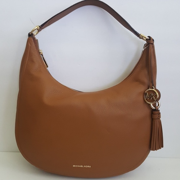 c30765ccd3f7 New Michael Kors Tassel Leather Hobo Handbag